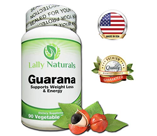 Guarana Liquid Extract - Pure Guarana Seed Extract 1000 mg - Amazon Rainforest Increases Stamina Natural Caffeine Helps You Stay Alert - Slow Release Caffeine Pills Weight Loss - 90 Vegetable Tablets