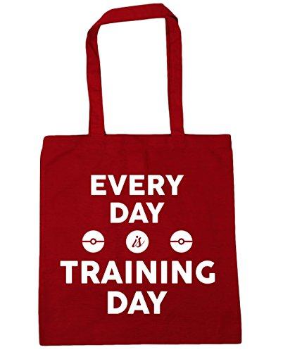 HippoWarehouse cada día es formación día bolsa de la compra bolsa de playa 42cm x38cm, 10litros Classic Red
