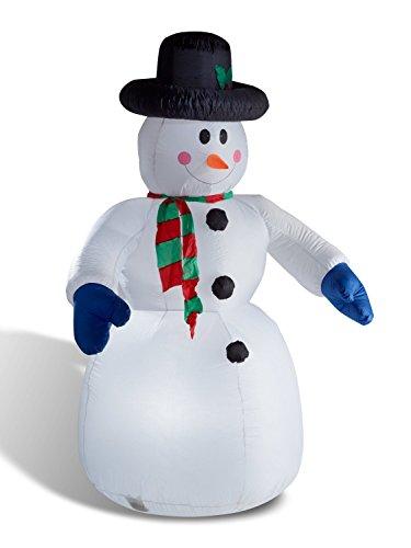 Schneemann 240 cm aufblasbar beleuchtet Weihnachtsdeko figur groß von Gartenpirat®