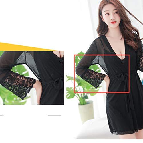 En Lingerie Zfazy Pyjama Tentation Black Pour black Nuit Costume mince Sexy Dentelle De Femme Ultra BEETrgdq