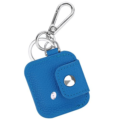 Fintie Tile Mate/Sport/Style Case with Carabiner Keychain, Anti-Scratch Vegan Leather Protective Skin Cover for Tile Mate (2016 Release), Tile Sport, Tile Style Key Finder Phone Finder, Royal Blue
