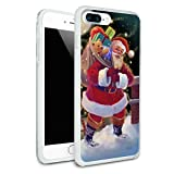 Christmas Holiday Santa Chimney Magic Protective Slim Fit Hybrid Rubber Bumper Case for Apple iPhone 7 Plus