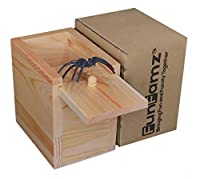 The Original Spider Prank Box- Hilarious Wooden Box Toy Prank, Funny Money Gift Box Surprise Toy, and Christmas Gag Gift Prank for Boys, Girls, Adults by FunFamz