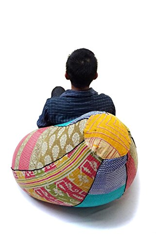 Embroidered Bean Bag Chairs - 3