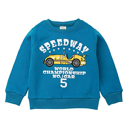 Toddler Baby Sweatshirt Winter,Leegor Sale Children Kids Boy Cartoon Car Letter Print Warm Pullover Clothes (The Fold Born To Be A Ninja)