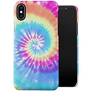 Amazon.com: Holographic Print Tie Dye Rainbow Colorful ...