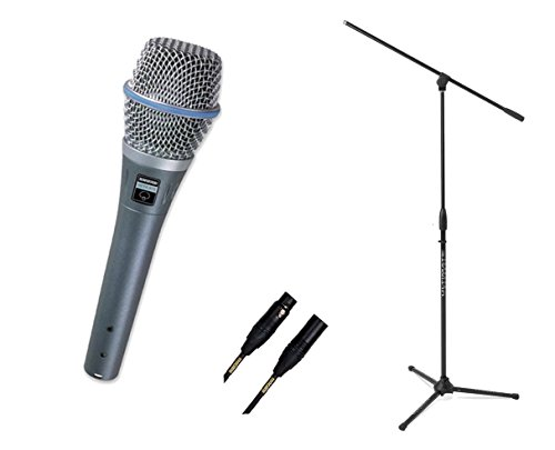 (Shure Beta 87A Condenser Supercardioid Vocal Microphone + Stand + Mogami Cable)