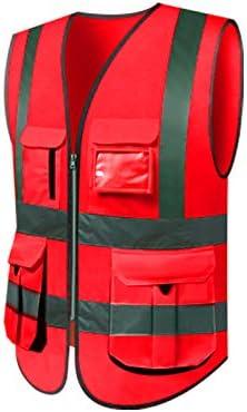 Chaleco reflectante rojo chaleco de seguridad de seguridad multicolor