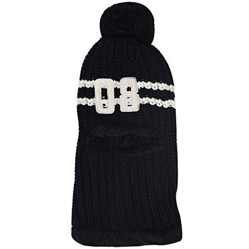 Masque Boule Chaud Au Hiver Chapeau Abby Noir Femmes Crochet Fourrure Épaisse Tricoté Écharpe q4W0Y1p