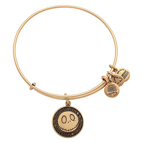 Disney Jack Skellington Bangle by Alex and Ani Goldtone Disney Gold Tone Bracelet