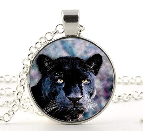 Black Panther Pendant Necklace Vintage Chain Choker Statement Necklace Jewelry Art of Necklace