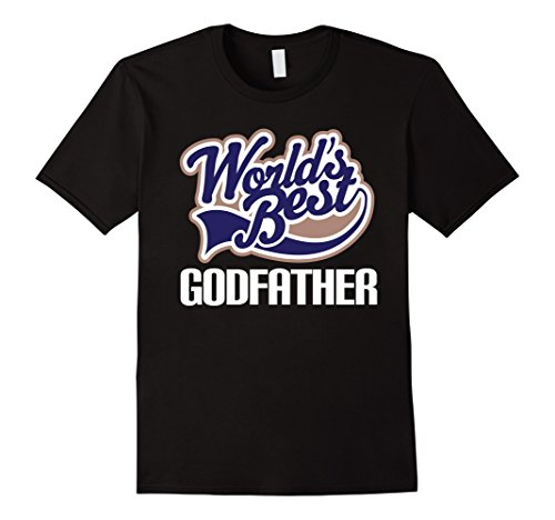Worlds Best Godfather T-shirt Godparent Gift Tee - Male L...