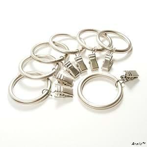 Anello Premium Drapery Clip Rings - Extra Thick - Set of 14pcs - Satin Nickel