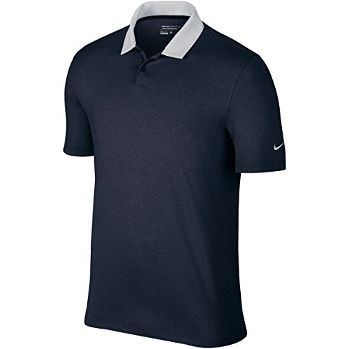 Nike Icon Herren Poloshirt heather M schwarz / weiß