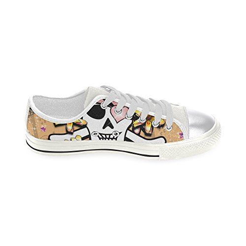 Women Canvas InterestPrint Shoes InterestPrint Classic skull for skull U048n