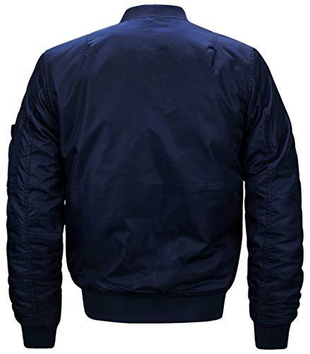 Simple Chaqueta Dick Ma1 Ligero Clásico blau N1 De Vuelo Acolchado De De De Chaqueta Estilo Bombardero para Bombardero para Hombre Piloto De Bombardero Chaqueta Hombres 0c6gO