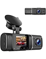 TOGUARD Dual Dash Cam with IR Night Vision, HD 1080P Front and 720P Inside Cabin Dash Camera 1.5 inch LCD Screen 310° Wide Angle Dual Lens Car Driving Recorder for Uber Cars Truck Taxi photo
