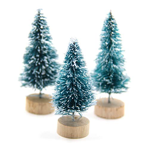 (DIY Christmas Tree Small Pine Tree Mini Trees Placed in The Desktop Home Decor Christmas Party)