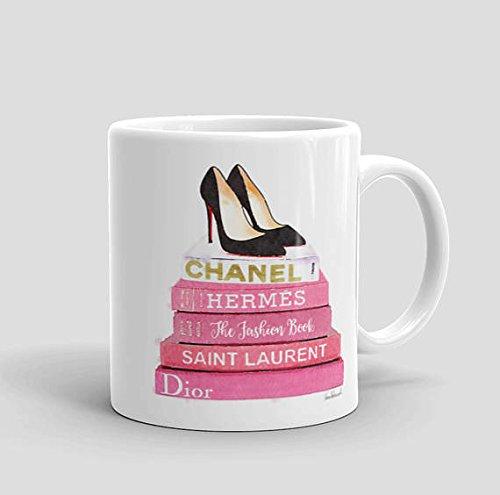 Fashion mug, 11oz, 15oz, style, gift, coffee mug, lovely mug, make up, fashion tea cup, fashion books shoes coffee. (Aladdin Shoes Womens)