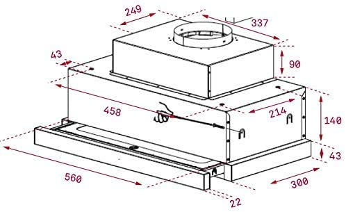 Teka 40436830 - Campana Telescópica Extensible, Acero inoxidable, 694m³/h, Inox, 56 x 30 x 27,3 cm: Amazon.es: Grandes electrodomésticos