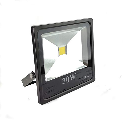 ZSGoes FloodLight 30W LED Flood Light Outdoor, Waterproof IP66, 200W Equivalent, Cool White, Low Voltage 12V 24V DC AC Super Bright Security Lights, Landscape Lamp, Home, Square, Yard, Garage, Street