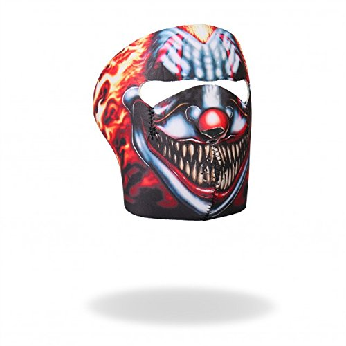 Hot Leathers Bikers Full Protection SMOKING CLOWN NEOPRENE FACE MASK, with Velcro Back Closure by Officially Licensed Original Hot Leathers Inc. USA