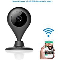 MiSafes Wireless Camera, Home Security Indoors Camera Surveillance 720P Camera with Microphone Speaker 2 Way Talk Remote Monitor Motion Alert work with iOS & Andriod smartphones (Black)