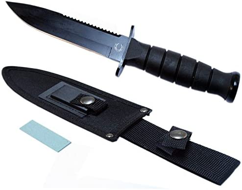 Lastworld 10 Hunting Knife with Sheath Smooth Blade