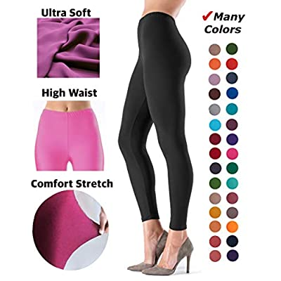LMB Women's Ultra Soft Leggings Stretch Fit 40+ Colors - One Size - Plus Size at Women's Clothing store