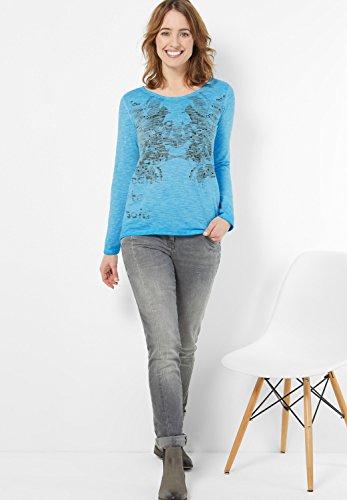 CECIL T-Shirt Frontprint -Gr.wählbar- miami blue