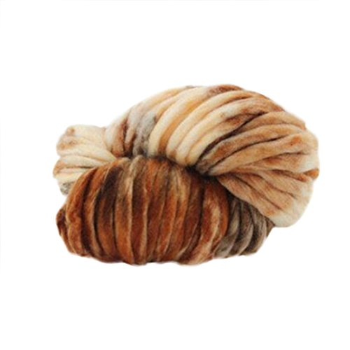 Vibola Merino Wool Yarn Super Soft Worsted Smooth Chunky Knitting Yarn Bulky Arm Knitting Wool Roving Crocheting DIY For Chunky Blanket Hand Knitted Hat Scarf (L, 250g)