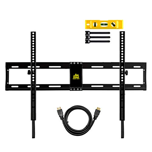 FORGINGMOUNT Low Profile Tilting TV Wall Mount Bracket for Most 32-80 inch LED,LCD,OLED,Plasma Screen TVs up to 130LBS and VESA 600X400-15 Degrees Tilt - Quick-Latching for Easy Install -FM9180-B