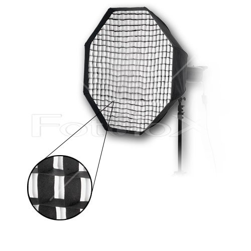 """Fotodiox Pro 36"""" Octagon Softbox PLUS Grid (Eggcrate) for Studio Strobe/Flash with Soft Diffuser and Dedicated Speedring, for Photogenic Studio Max III 160, 320, Powerlight PL1250, PL1250DR, PL1200DRUV, PL2500DRUV, PL625DR, PL624DRC, PL1250DRC, Solair 500, 1000 Strobe Flash Light, Soft box, Speed Ring"""