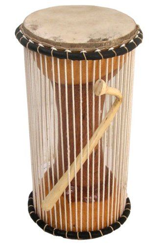 African Mali Tama Talking Drum 6 X 12 + Beater Djembe - New! by Africa Heartwood Project