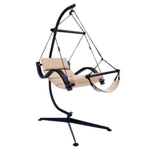 C Shaped Hammock Chair Stand - Black