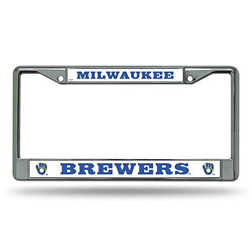 Rico Milwaukee Brewers MLB Chrome Metal License Plate Frame