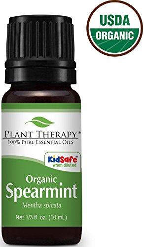 USDA Certified Organic Spearmint Essential Oil. 10 ml (1/3 oz). 100% Pure, Undiluted, Therapeutic Grade.