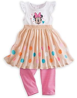 Baby Girls Minnie Mouse Knit Dress & Leggings Set