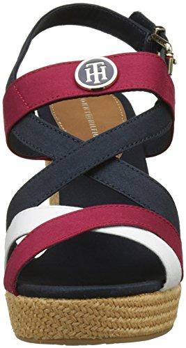 rwb Hardware Iconic Hilfiger Espadrilles Sandal Femme Tommy 020 Multicolore Elena A8HIwq