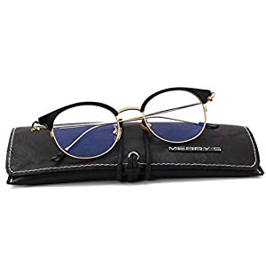 MERRY'S Women Retro Cat Eye Optical Frames Clear Lens Glasses S2066 (Gold, 48)