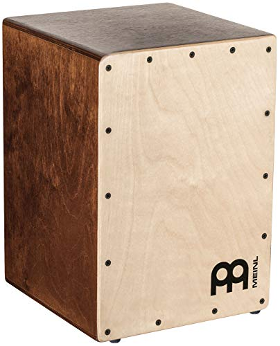 Meinl Cajon Box Drum with Internal Snares - MADE IN EUROPE - Baltic Birch Wood Compact Size, 2-YEAR WARRANTY, JC50LBNT)
