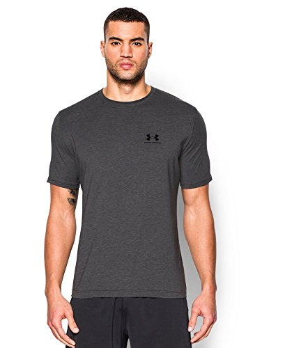 Under Armour Men's Charged Cotton Sportstyle T-Shirt, Carbon Heather/Black, Medium