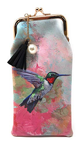Value Arts Colorful Hummingbird Eyeglass Case Pouch, 7 Inches ()