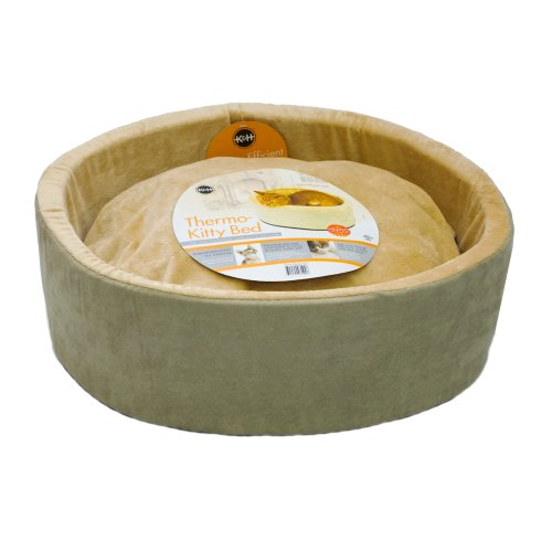 (K&H Pet Products Thermo-Kitty Heated Pet Bed Large Sage 20