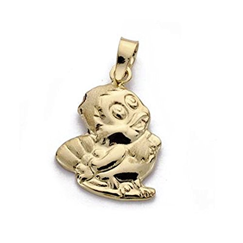 Pendentif 18k poussin 19mm d'or. [AA0117]