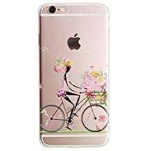 For iPhone 6 Case, Let it be Free iphone 6 (4.7-inch) Protective Case Soft Flexible TPU Transparent Skin Scratch-Proof Case for iPhone 6 (4.7-inch)- Bike
