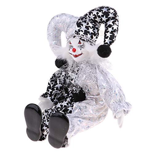 (Fityle Funny Smile Clown Man Figure Doll Toy Chrismas Decor Ornaments Birthday Gift)