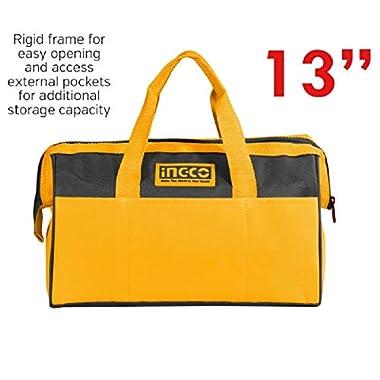 Ingco Tool Bag (HTBG28131, 13 Inches, Yellow) 6
