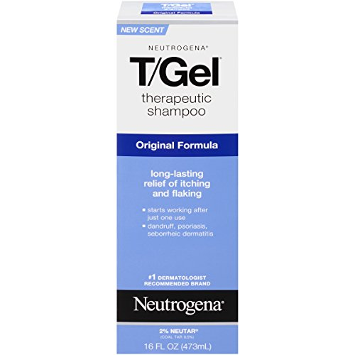 [Neutrogena T/Gel Therapeutic Shampoo Original Formula, Dandruff Treatment, 16 Fl. Oz.] (Coal Tar Shampoo)