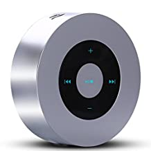 Portable Bluetooth Speaker - A8 Wireless Speaker with Touch Screen Output Strong Bass Stereo Sound for All Bluetooth Devices- Echo Dot - Enjoy Music with your Android and IOS devices (Silver)